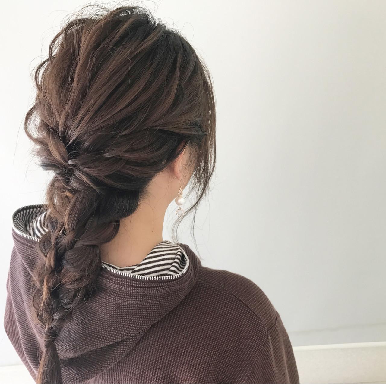 ふわっふわに引き出した編み込みアレンジ 新谷 朋宏 | Free hairstylist shinya