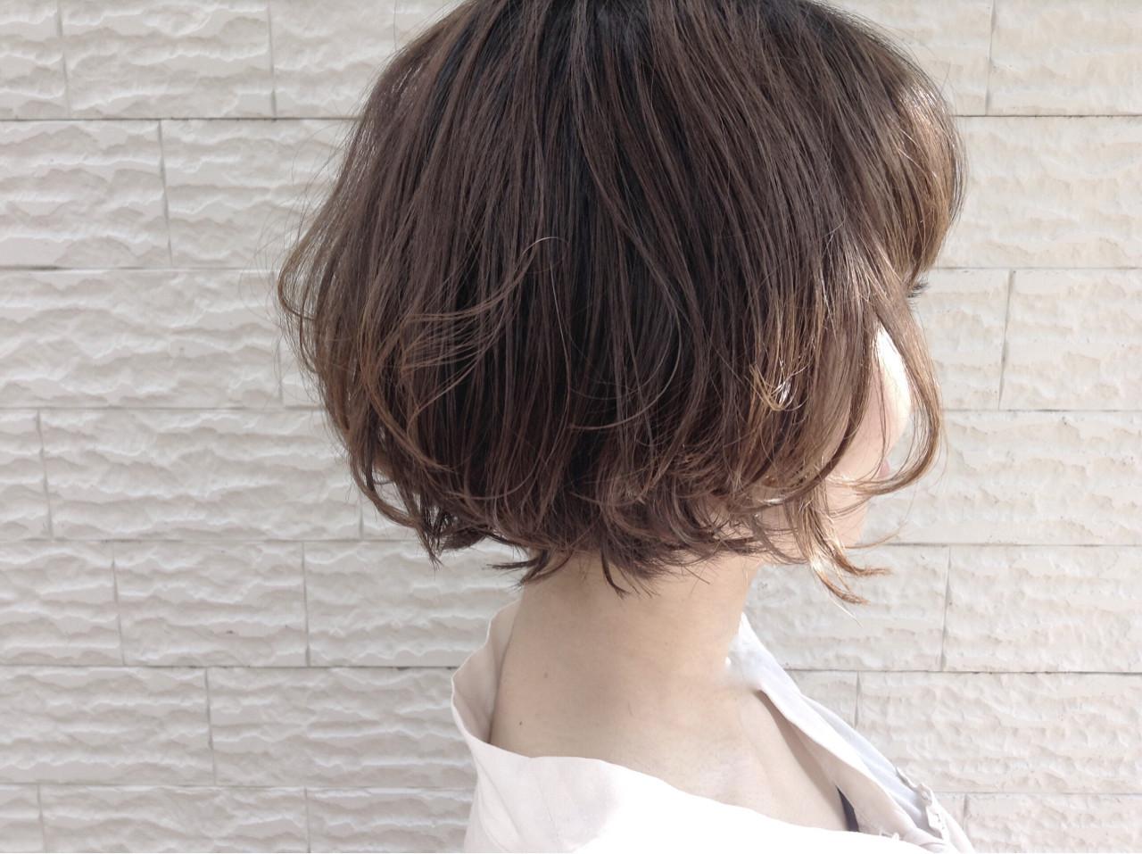 30代にぴったりのショートレイヤーボブ 山田大貴 / throb | throb by reve