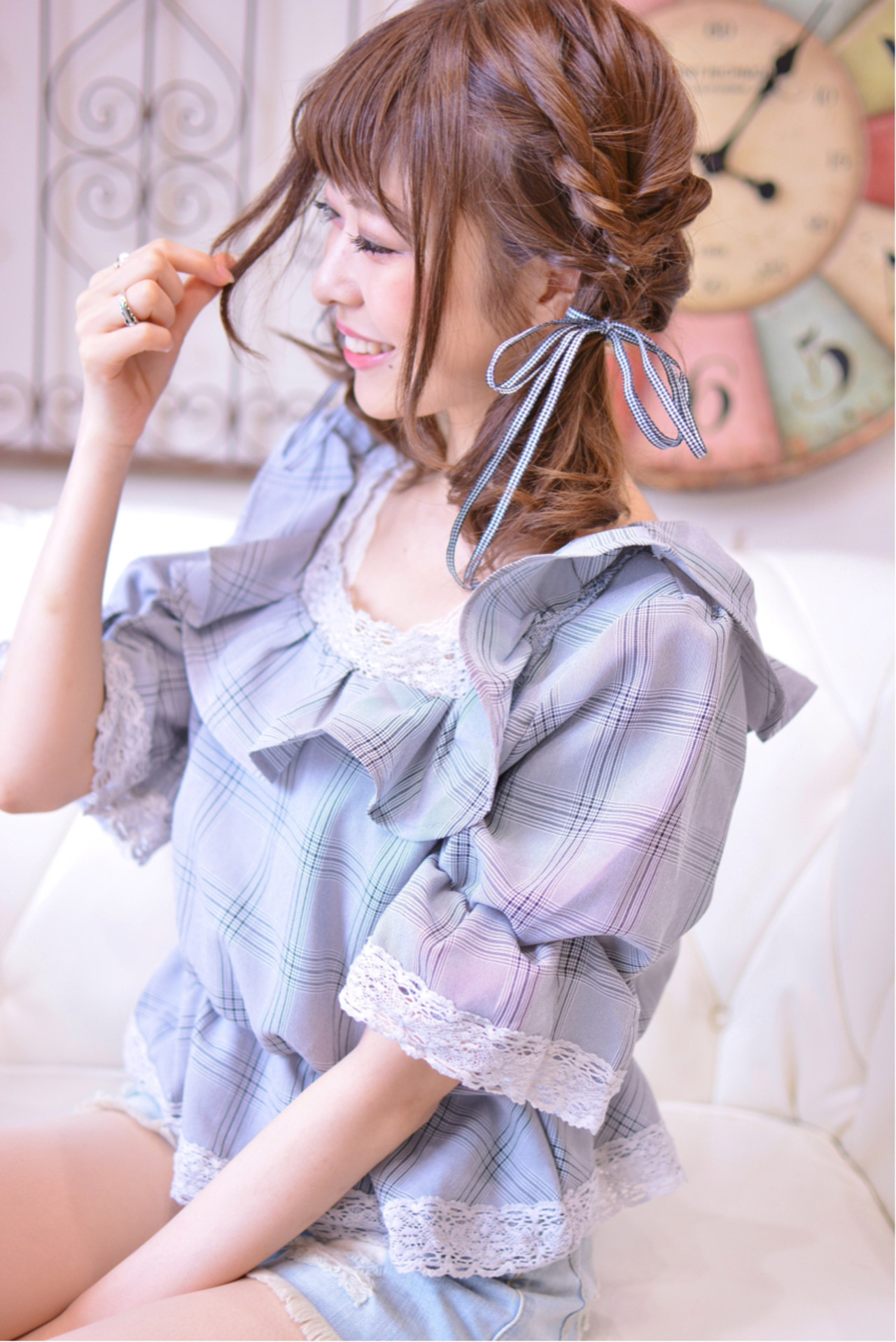 くるりんぱミディアムですっきりと大人可愛く♡ Shiko Kajihara