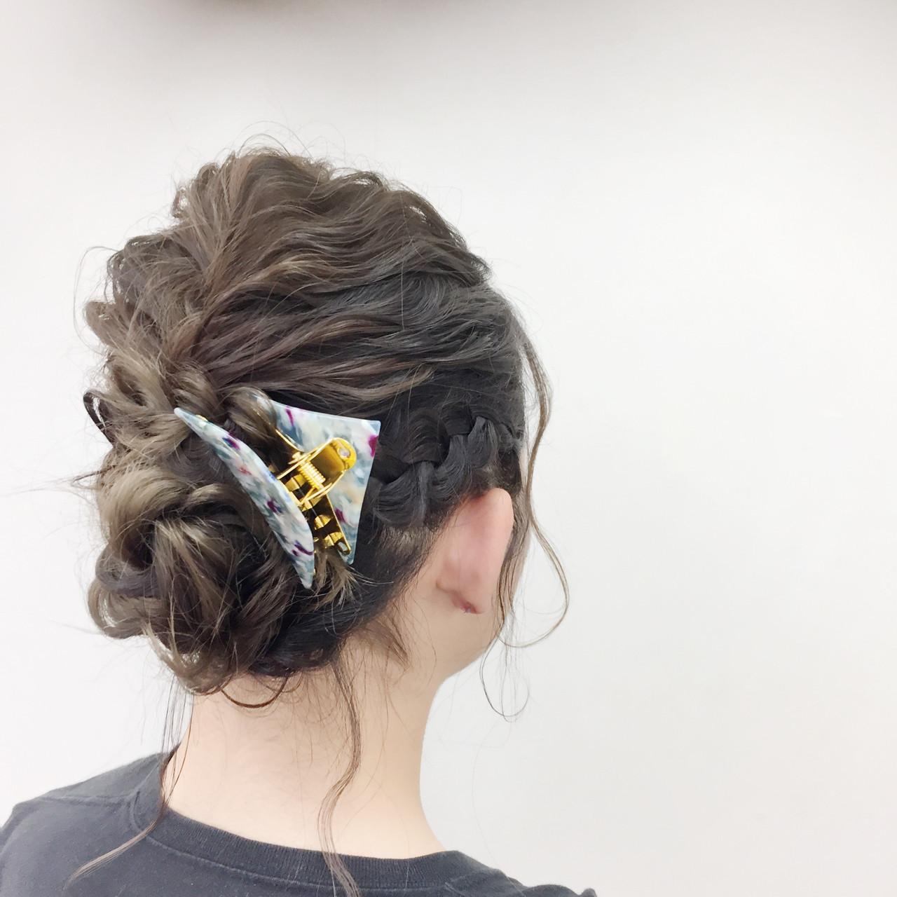 シニヨンなどのまとめ髪に!かわいさ飾る三角クリップ 後藤菜々