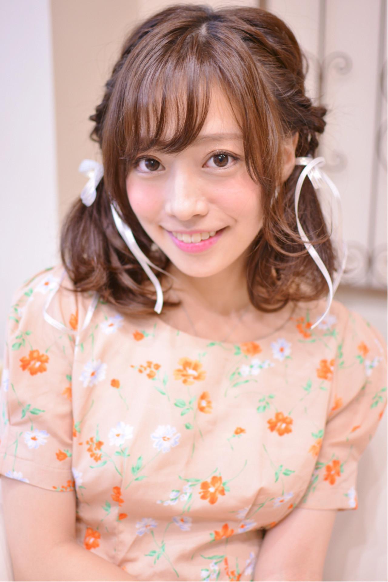 巻き方も簡単!ウェーブで今風ツインテールに Shiko Kajihara