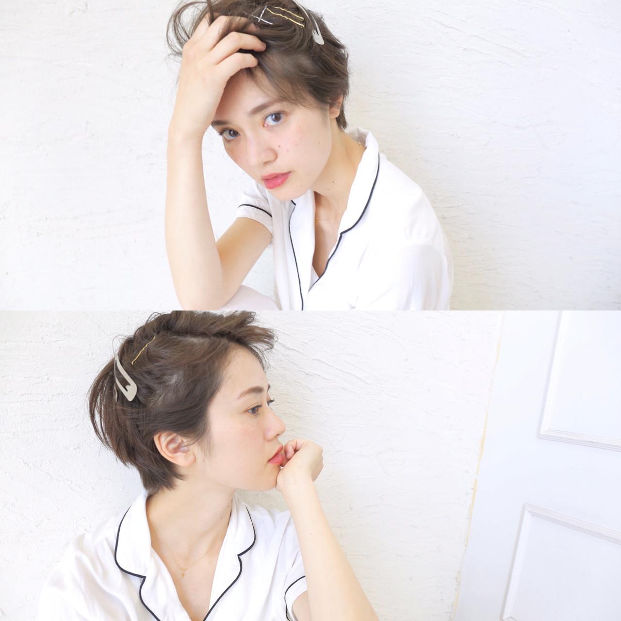 ショートヘアさんにはヘアピンがBEST♪ 原田直美