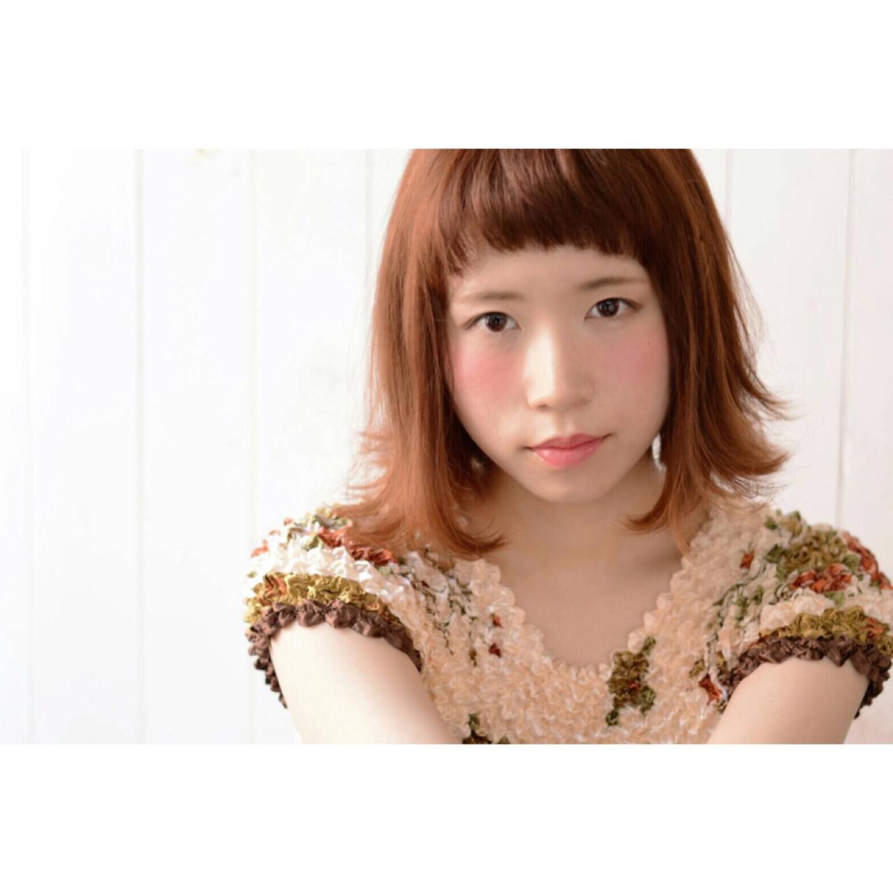 オレンジヘアカラー×メイクで明るい表情に♪ 中林 香奈