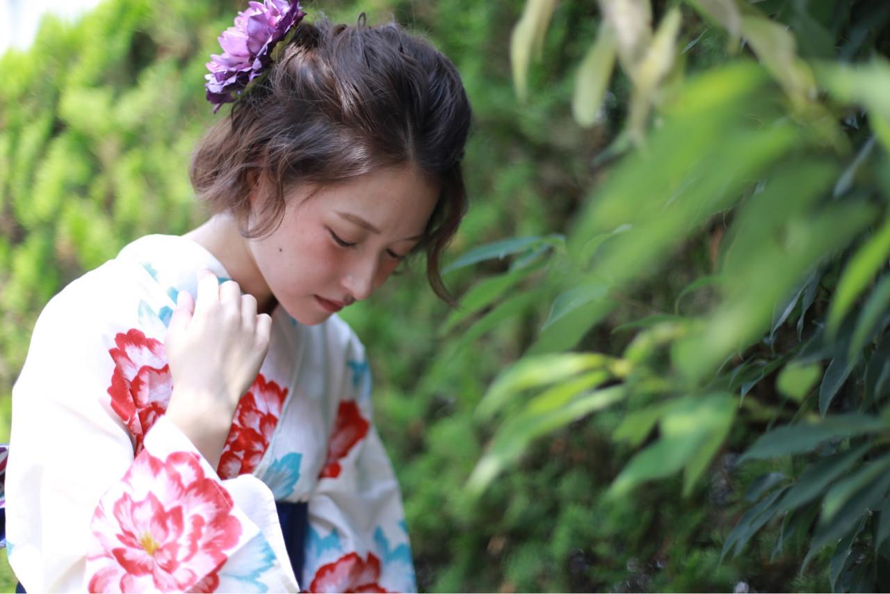 大き目のお花がかわいいアレンジ 高森 彩可/高円寺四百倍美容室