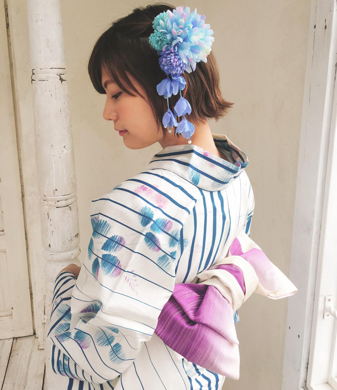 ゆれる髪飾りで女らしさをプラス 石川 瑠利子