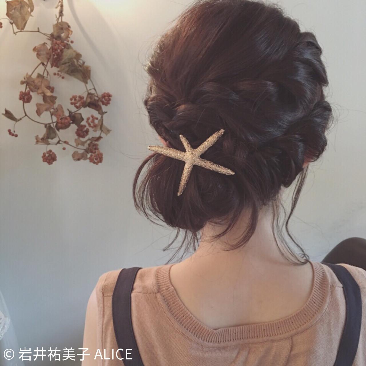 ストレートの髪もすっきりまとめて☆ねじりアレンジ 岩井祐美子 ALICE