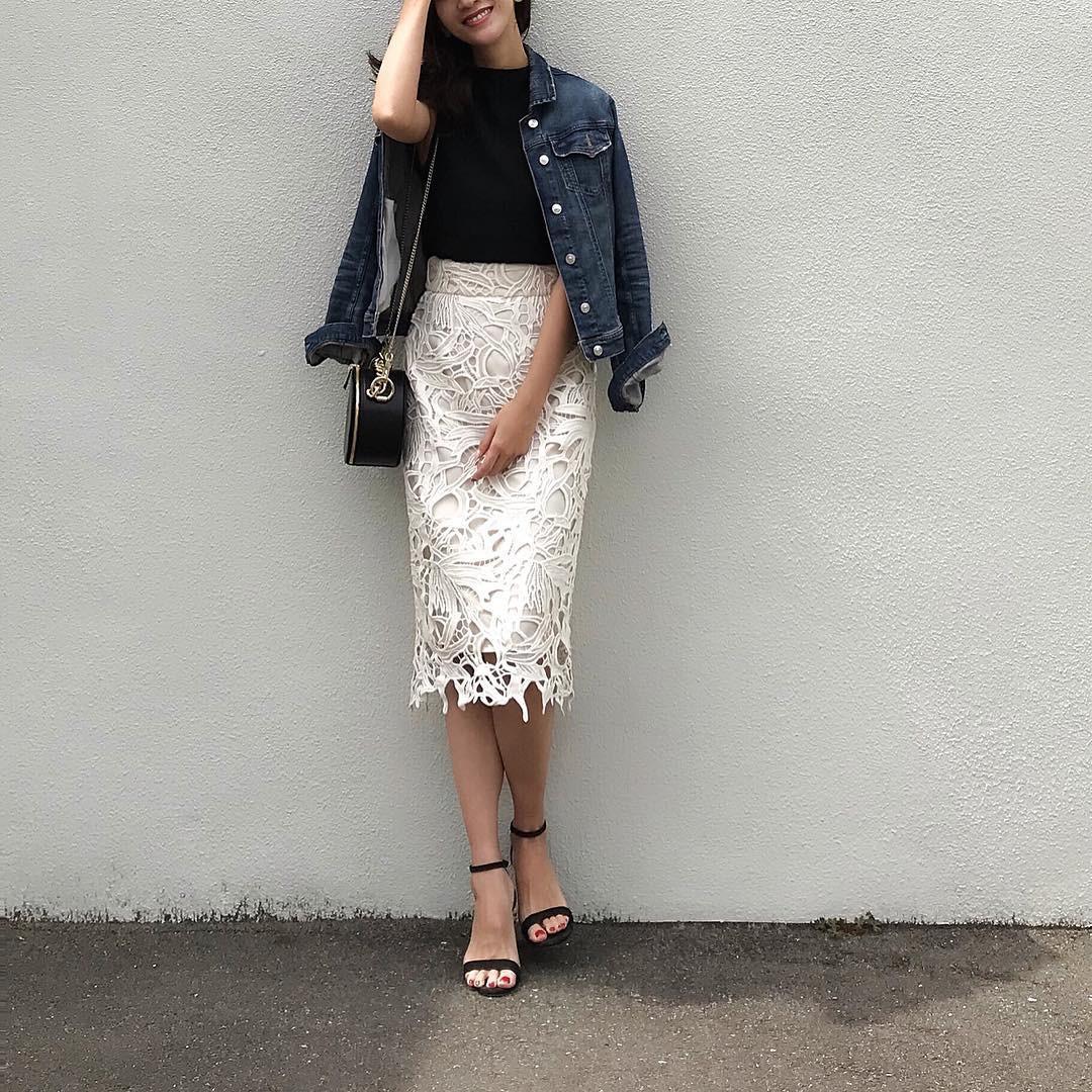 3day:Gジャン×スカートで女っぽカジュアルに 出典:nagina001