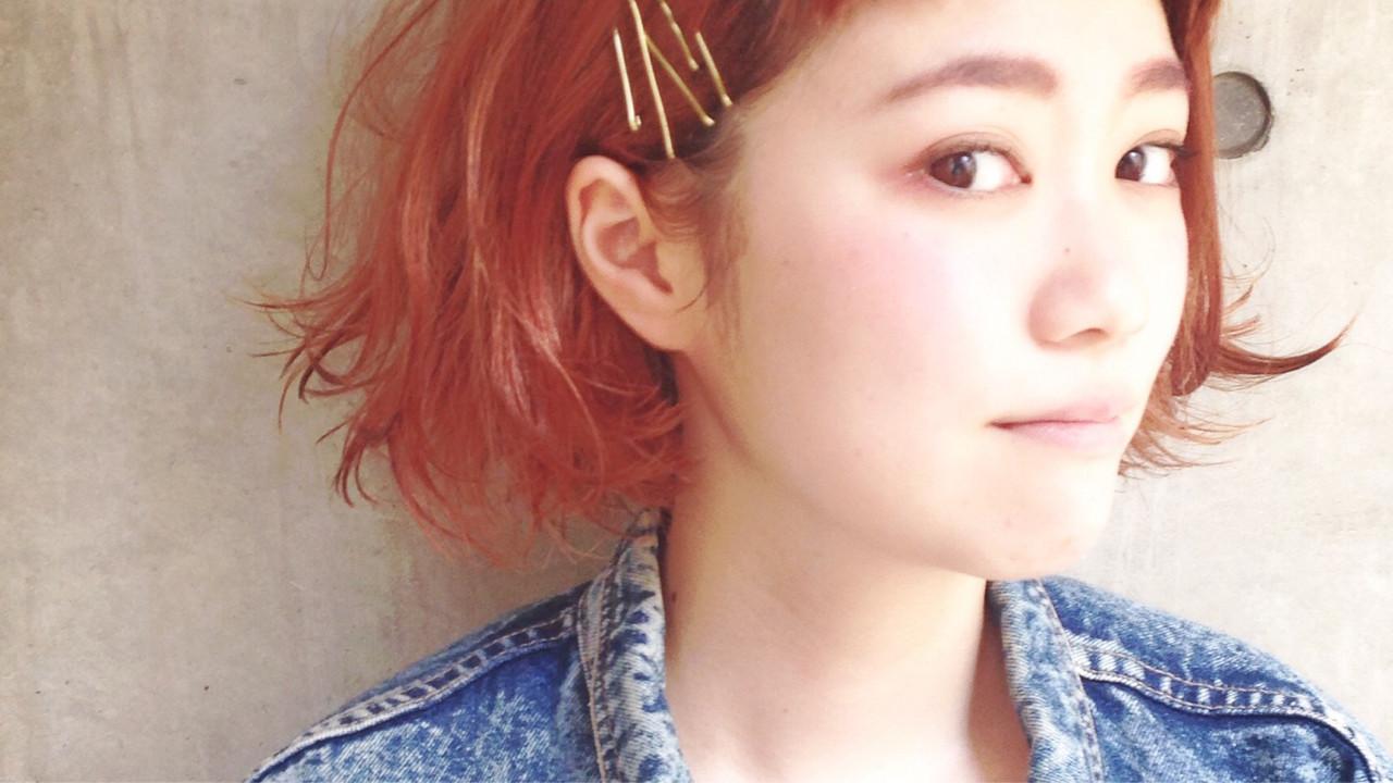 主役級☆周りの目を引く大人可愛いオレンジヘアカラー 永井 美菜子 bibito