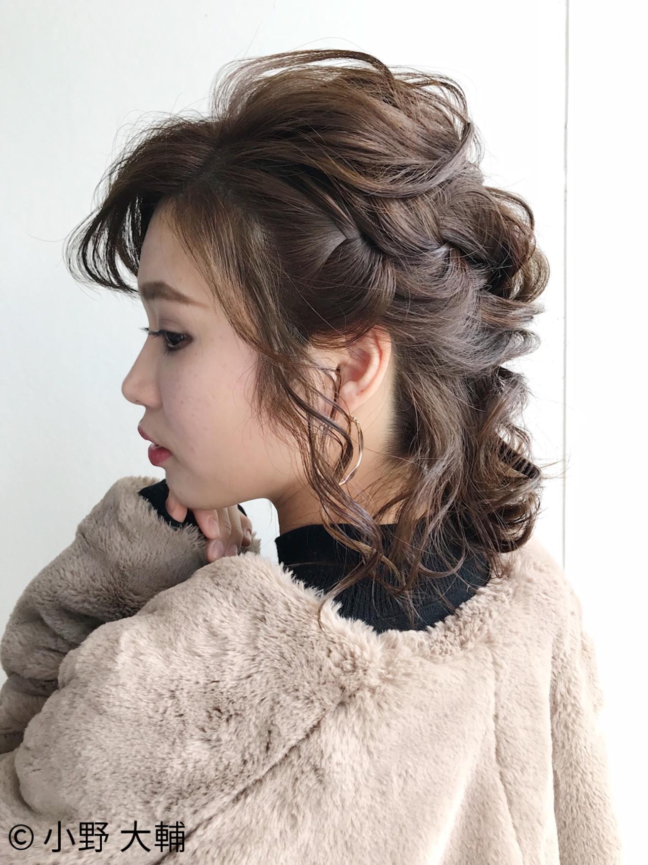 華やかさアップ!ハーフアップで前髪も巻き込んで♡ 小野 大輔 | ape beauty WORLD