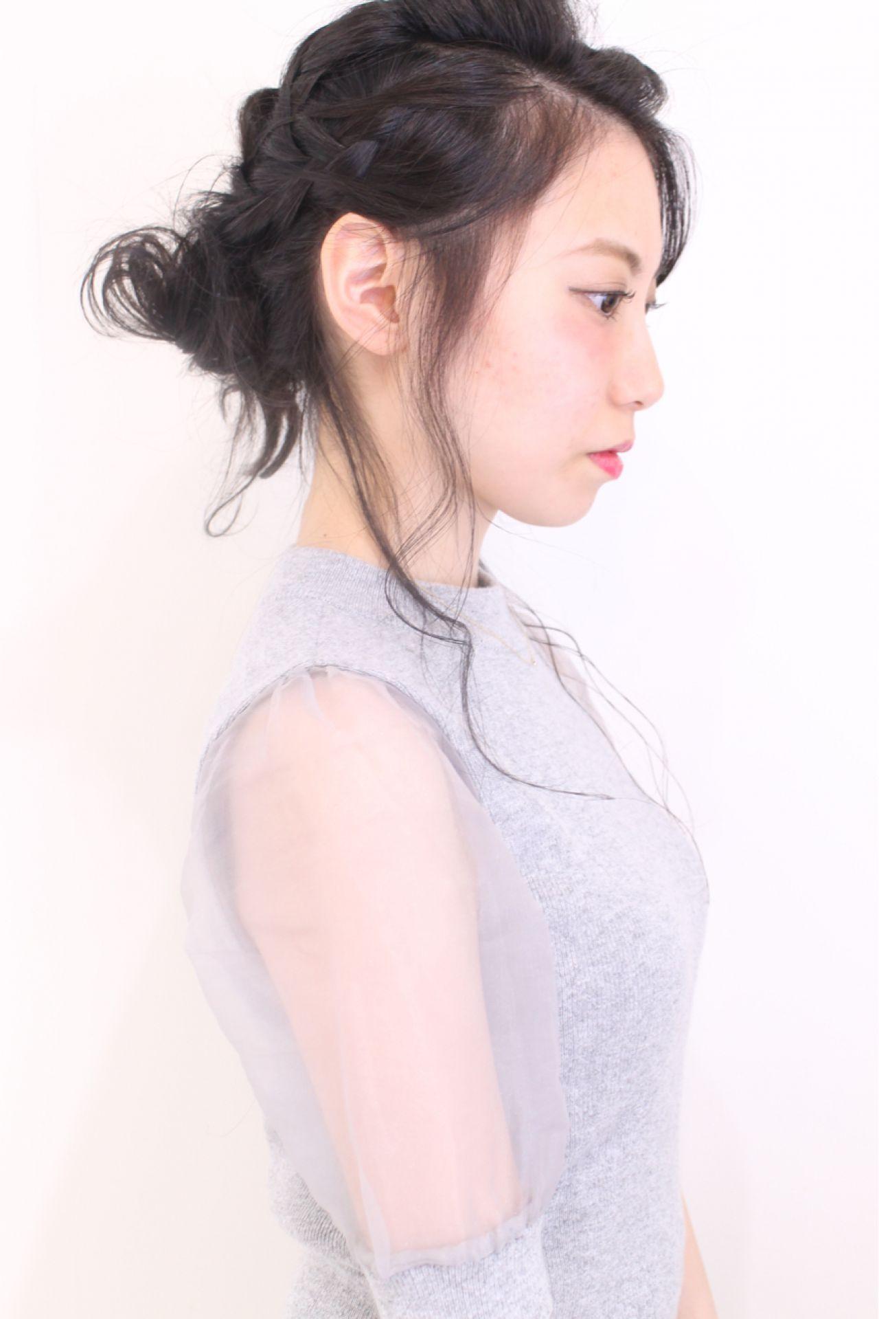 お呼ばれにやってみたい!華やかヘアアレンジ 長井美菜