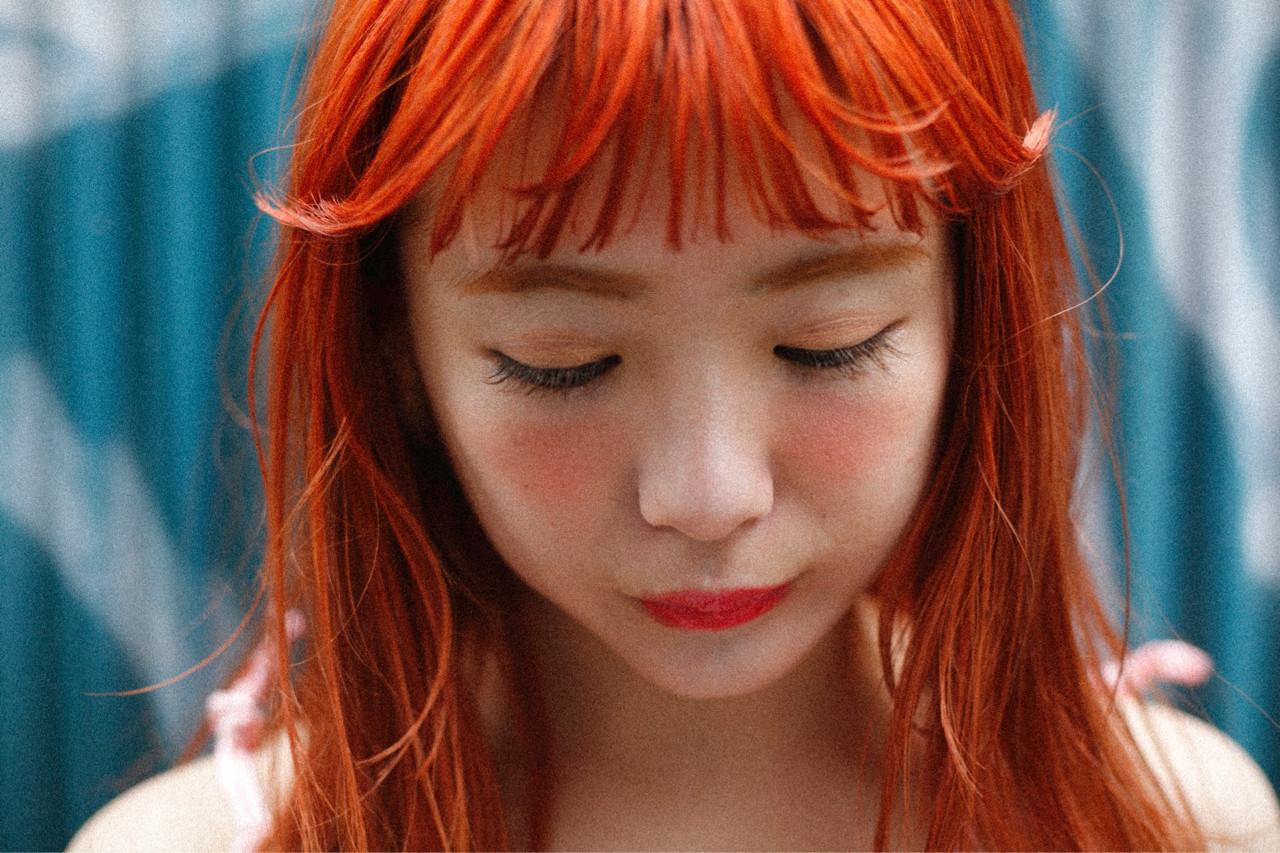 元気印が特徴♡ハイトーンオレンジヘアカラー 中山翔 福岡 天神 TRENCH