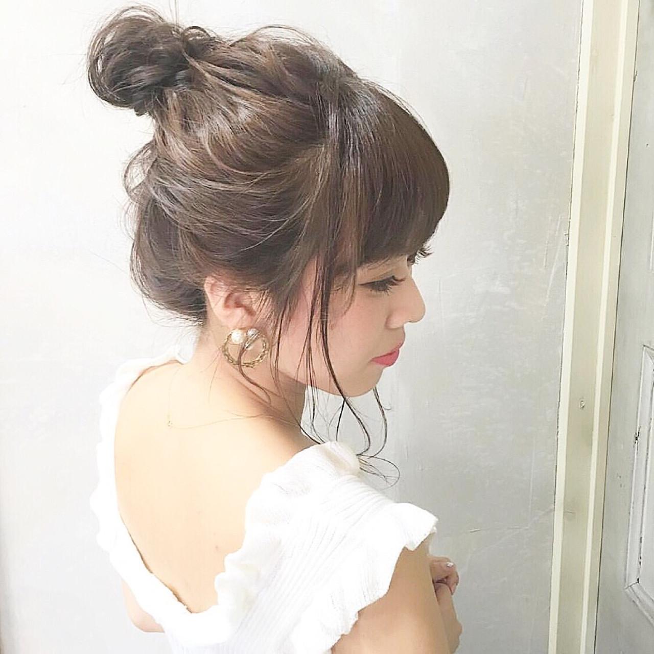 夏服コーデに合う髪型はアップスタイルがぴったり! hii.de@✂︎ | gem.for hair藤崎店