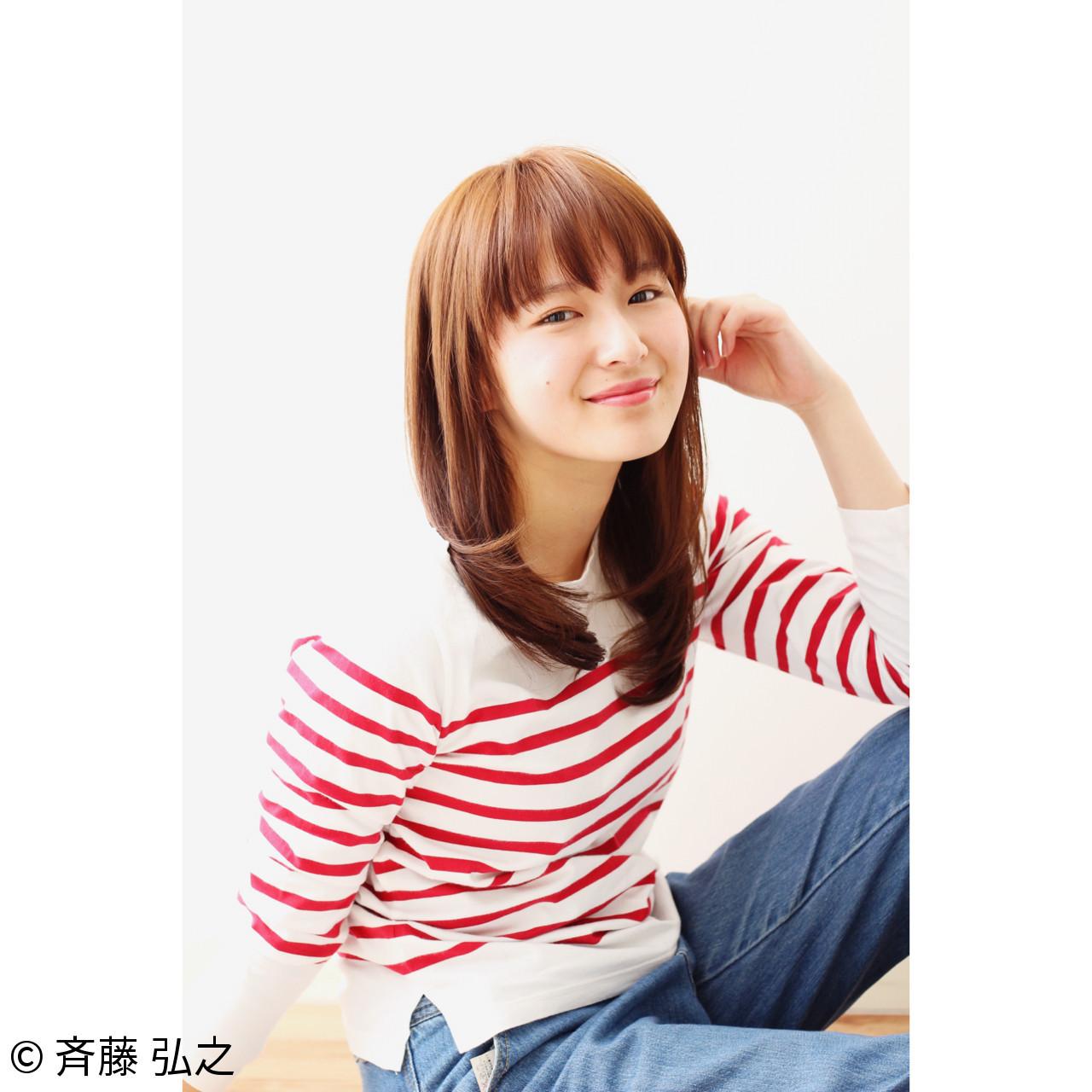 清楚な女性にピッタリ♡ベージュ系オレンジヘアカラー 斉藤 弘之