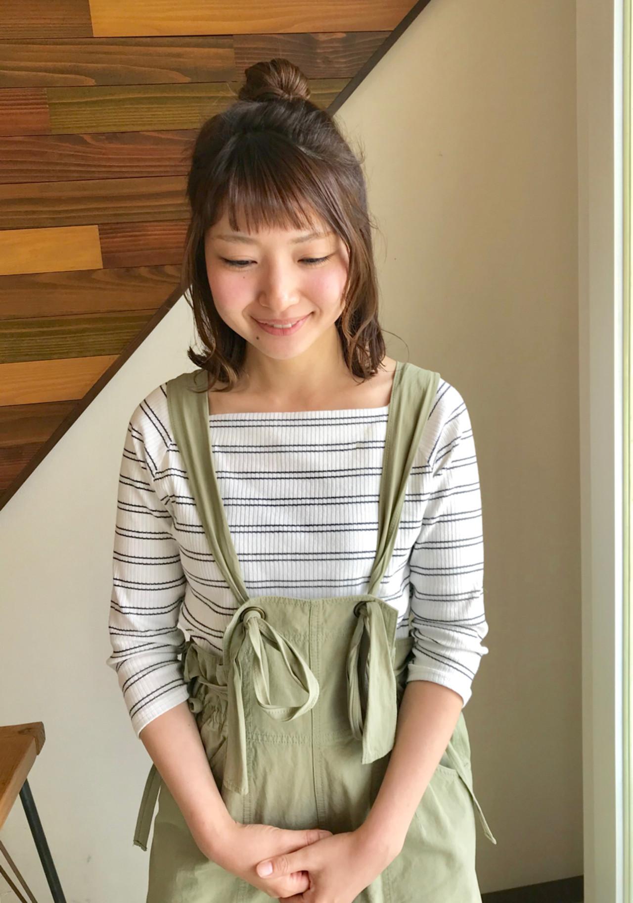 前髪アップはハーフ残しでラフ感のあるいい女へ♡ yukie_horiba | Organic&hair LAU LEA