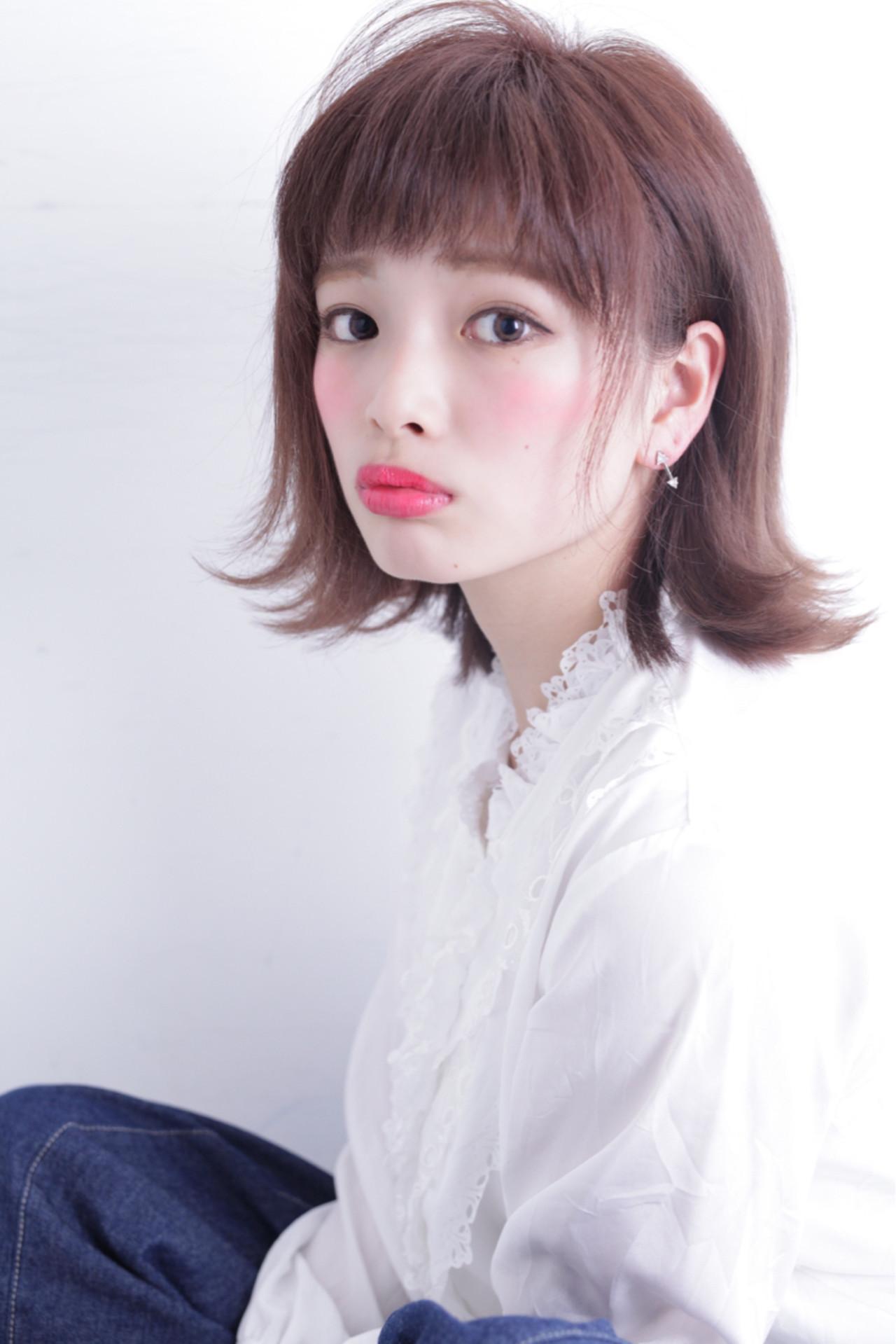 厚めのぱっつん前髪!ふんわり女っぽい印象に♡ 石田 学史 | DISHEL