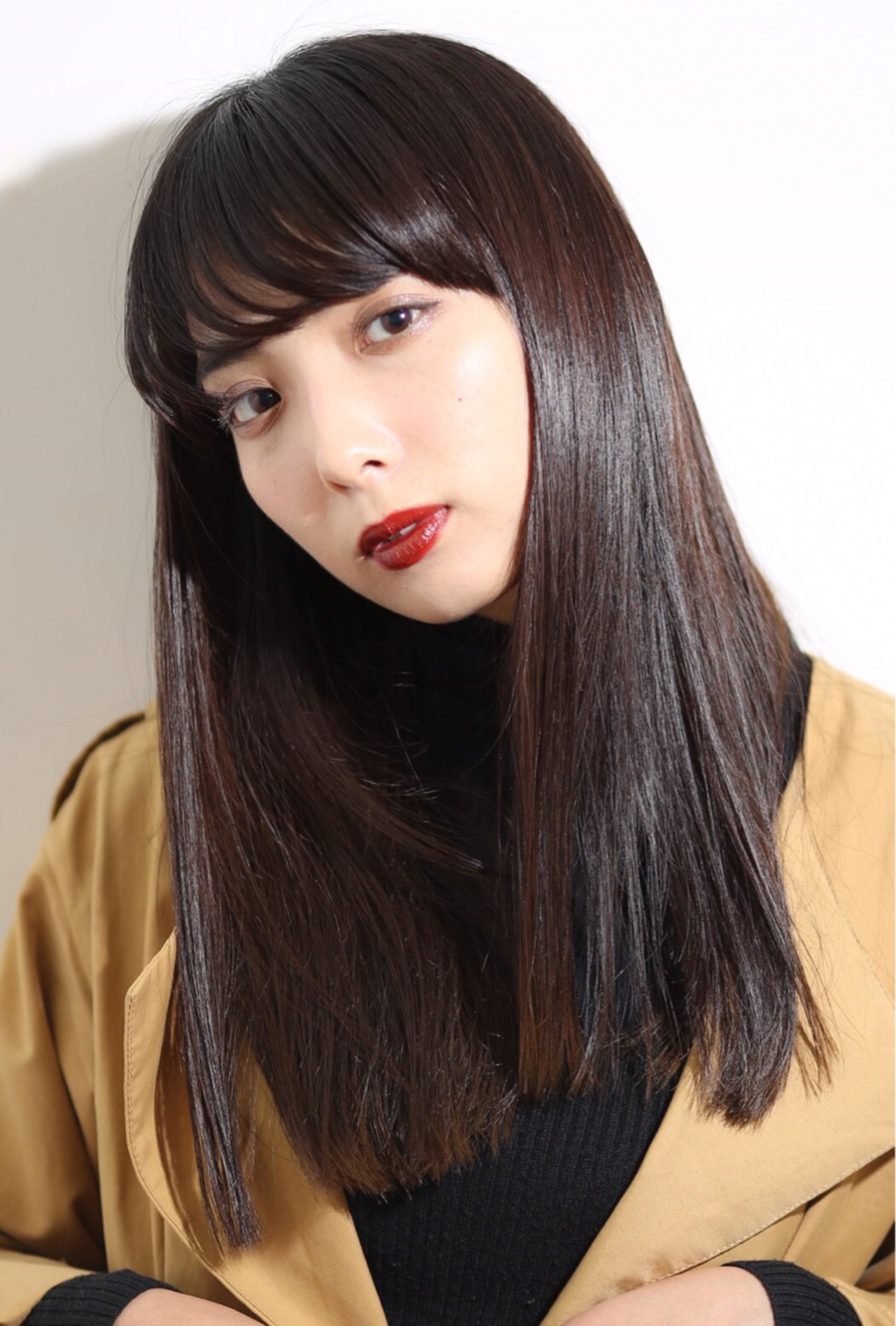 女性らしさが漂うふんわり前髪で優しい印象に Obayashi Natsumi