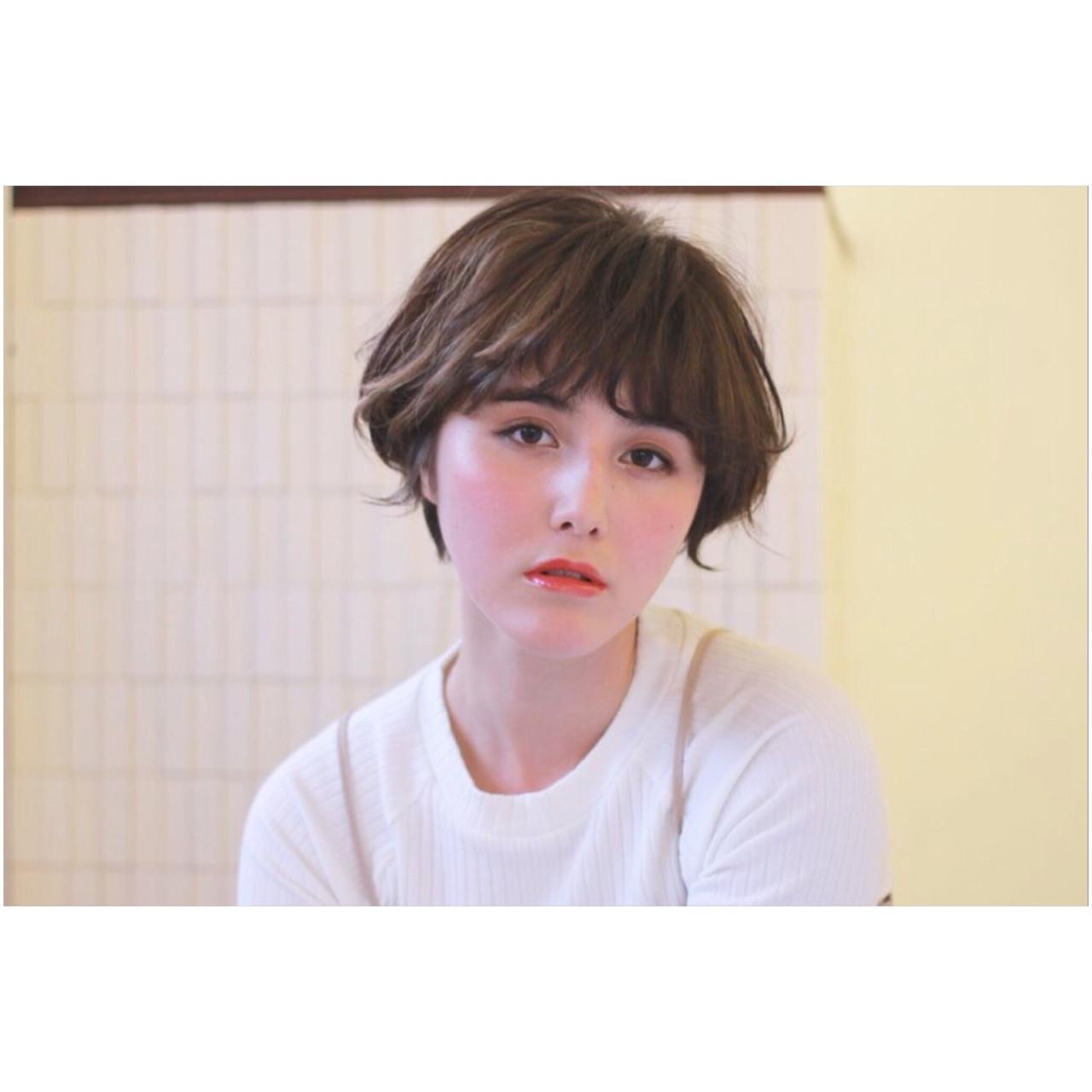 ショート 大人かわいい 小顔 外国人風 ヘアスタイルや髪型の写真・画像