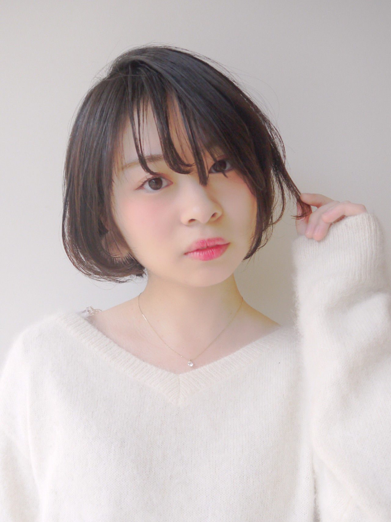 涼やかな雰囲気のシースルーバング Hiroki Sakuma【morio原宿】