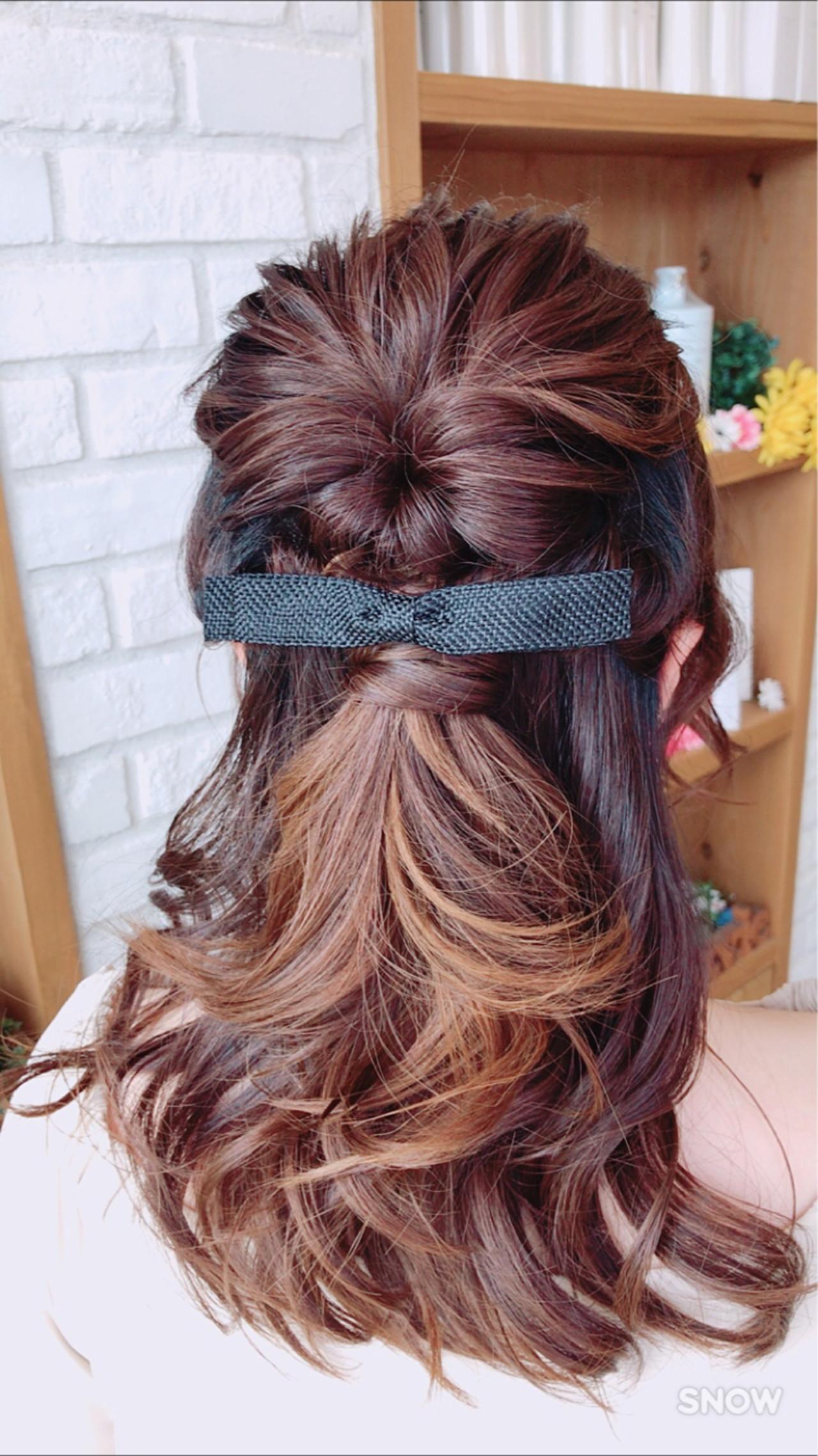 ヘアアレンジ アンニュイ ウェーブ セミロング ヘアスタイルや髪型の写真・画像