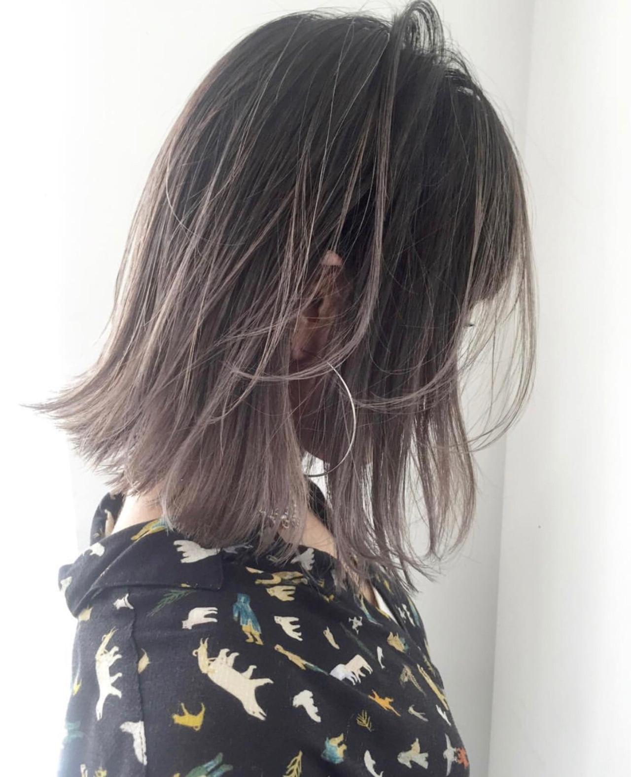 グレージュ ヘアアレンジ アッシュ ストリート ヘアスタイルや髪型の写真・画像