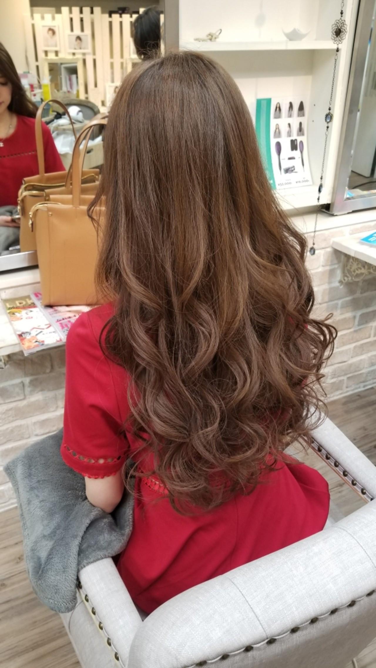 結婚式 アンニュイ バレンタイン ロング ヘアスタイルや髪型の写真・画像