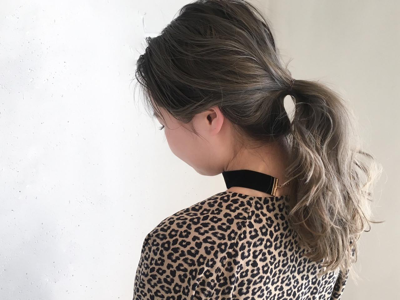 1、髪を全体をひとまとめにしよう! 鈴木 謙太