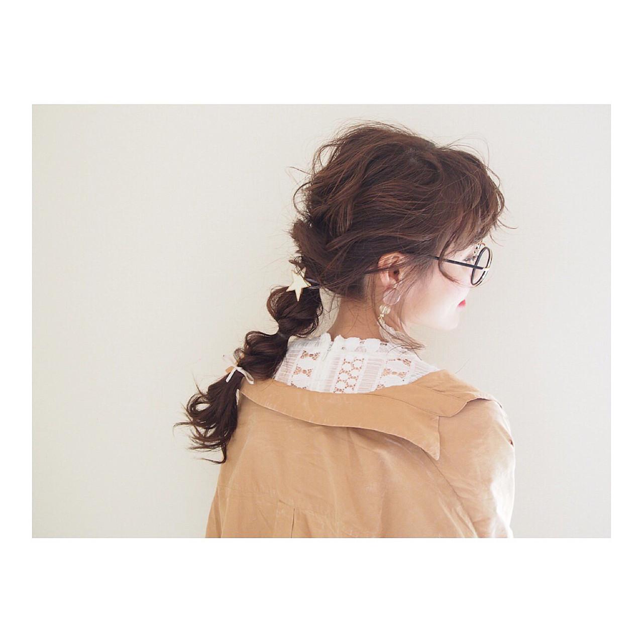 ナチュラル ロング 三つ編み ヘアアレンジ ヘアスタイルや髪型の写真・画像