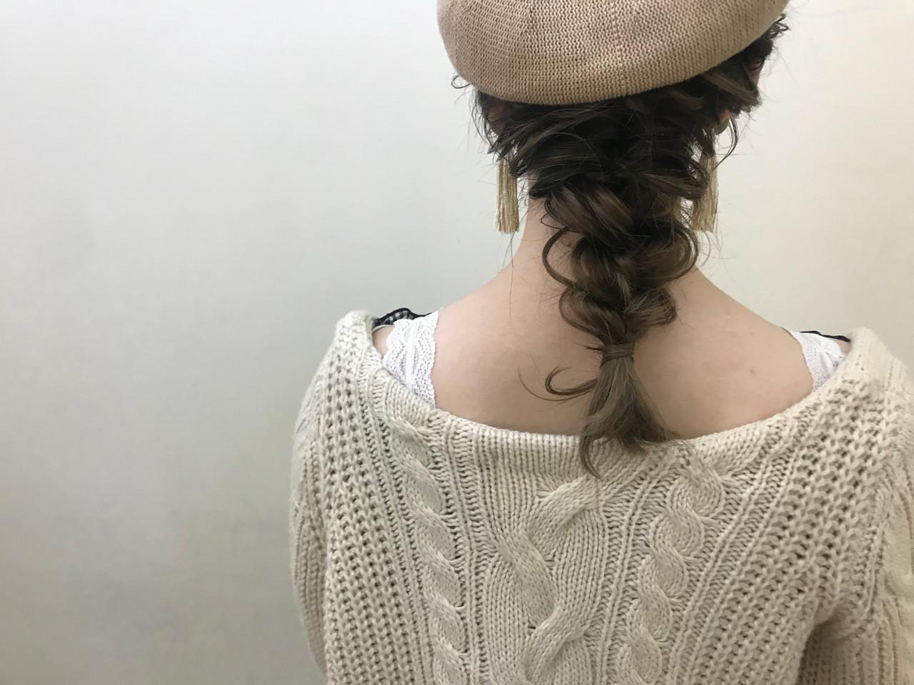 まとめ髪×ハットアレンジもかわいい♡ yumiko/sapporoSKNOW