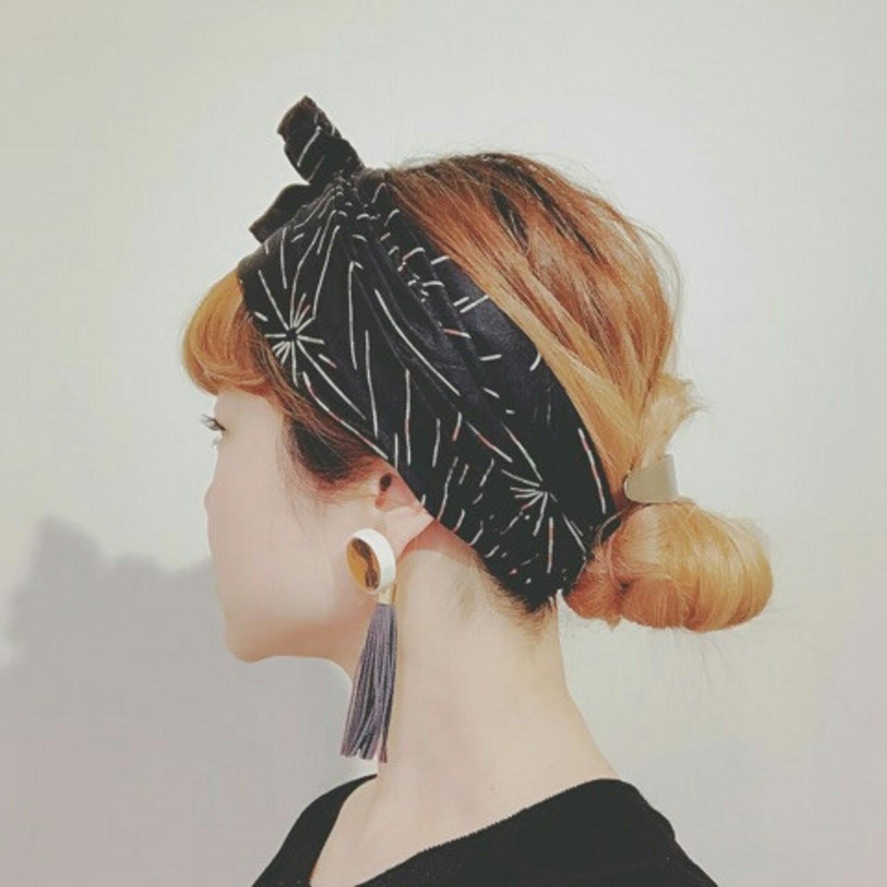 夏 ヘアアクセ ストリート ヘアアレンジ ヘアスタイルや髪型の写真・画像