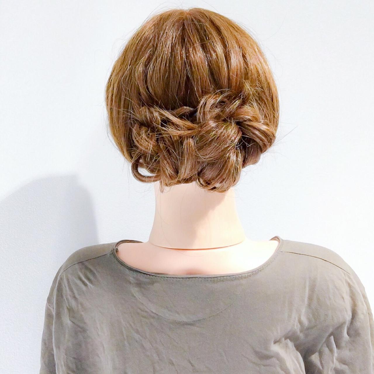 くるりんぱ アウトドア ロング エレガント ヘアスタイルや髪型の写真・画像