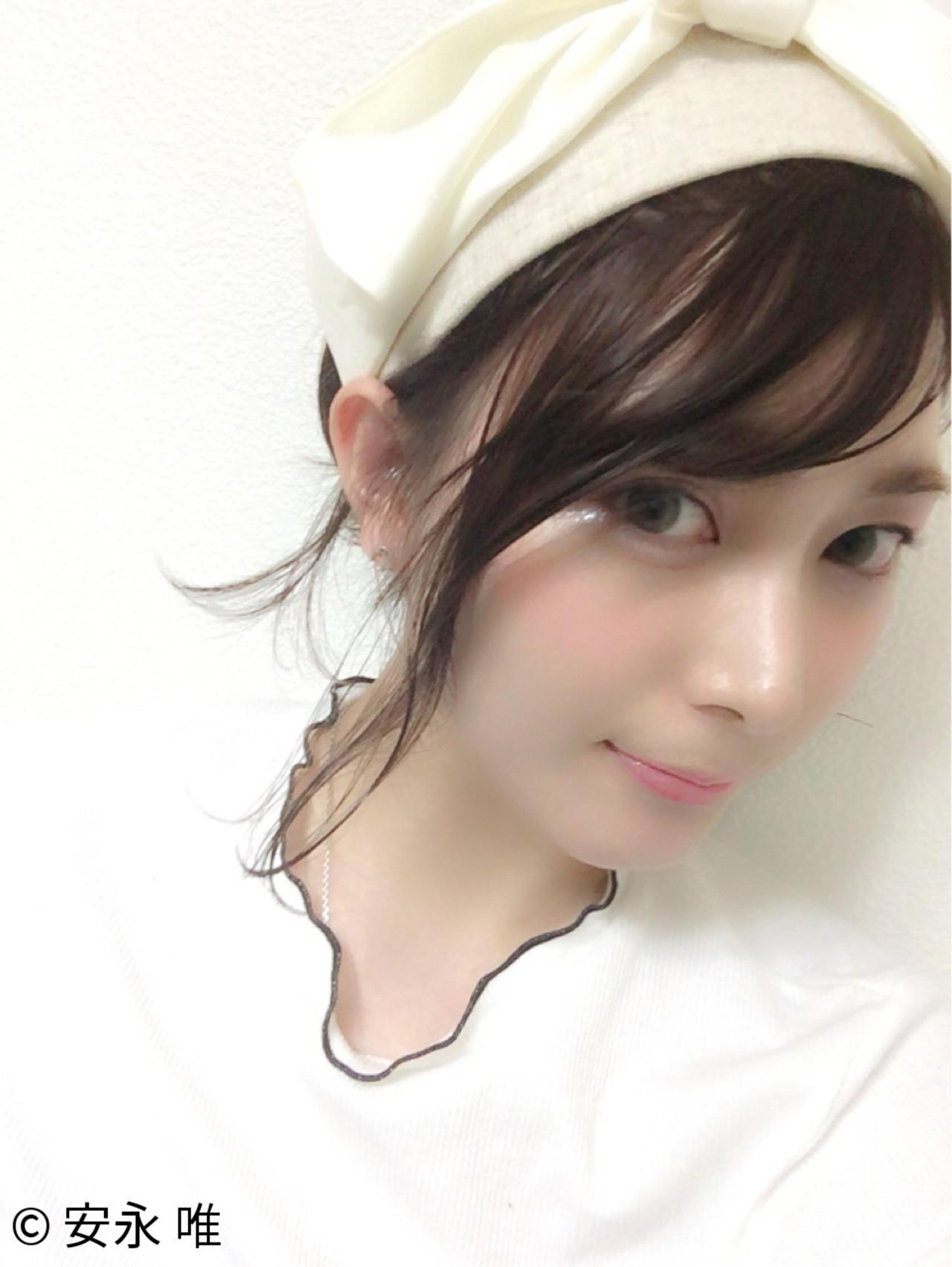 フェミニン ヘアアレンジ ヘアアクセ 簡単ヘアアレンジ ヘアスタイルや髪型の写真・画像