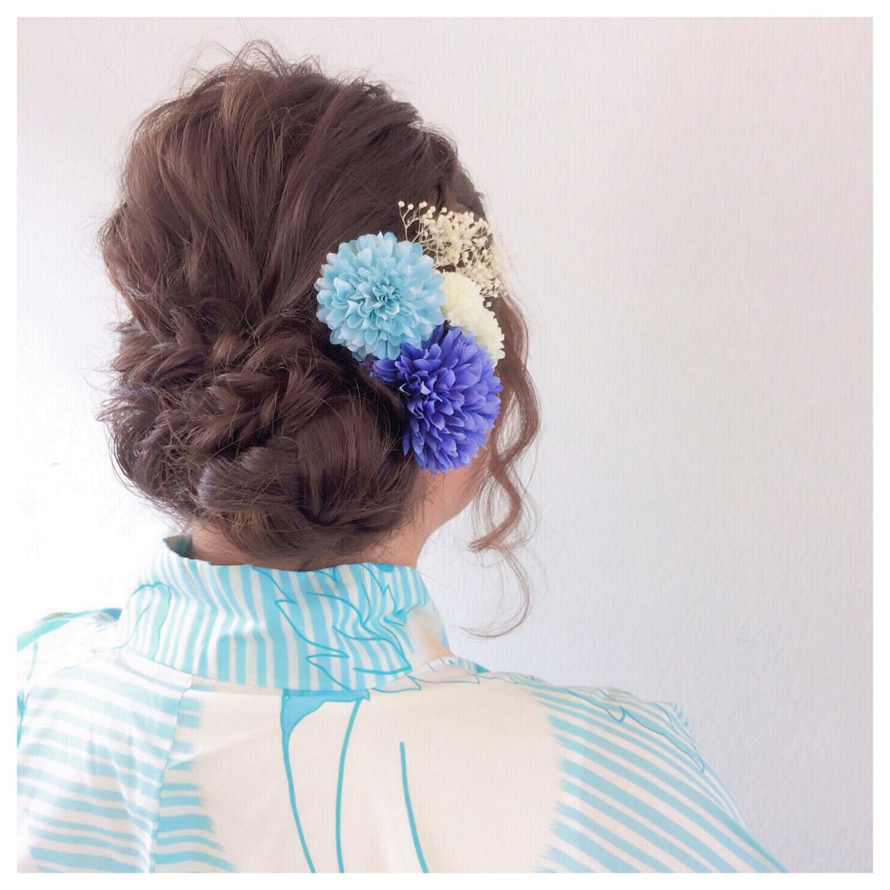 フェミニン 和装 簡単ヘアアレンジ 結婚式 ヘアスタイルや髪型の写真・画像