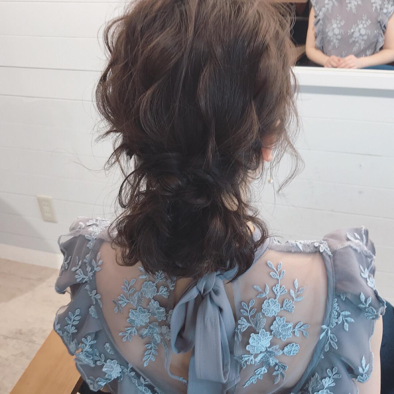 ボブ 結婚式 ナチュラル デート ヘアスタイルや髪型の写真・画像