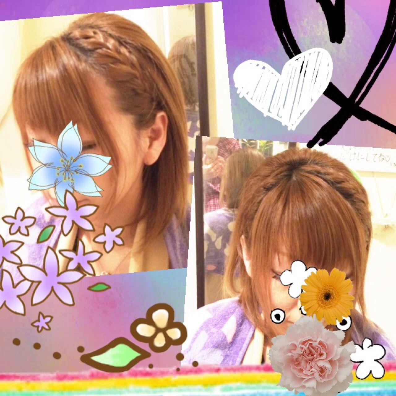 ストリート ヘアアレンジ 編み込み カチューシャ ヘアスタイルや髪型の写真・画像