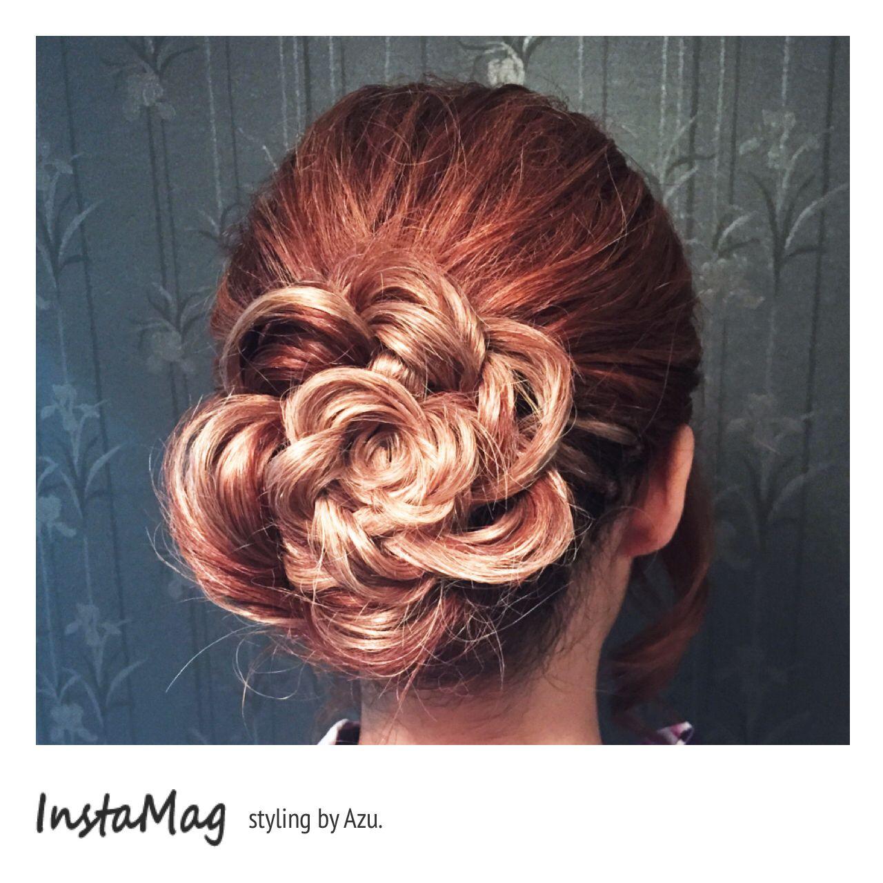 甘め ヘアアレンジ ナチュラル セミロング ヘアスタイルや髪型の写真・画像