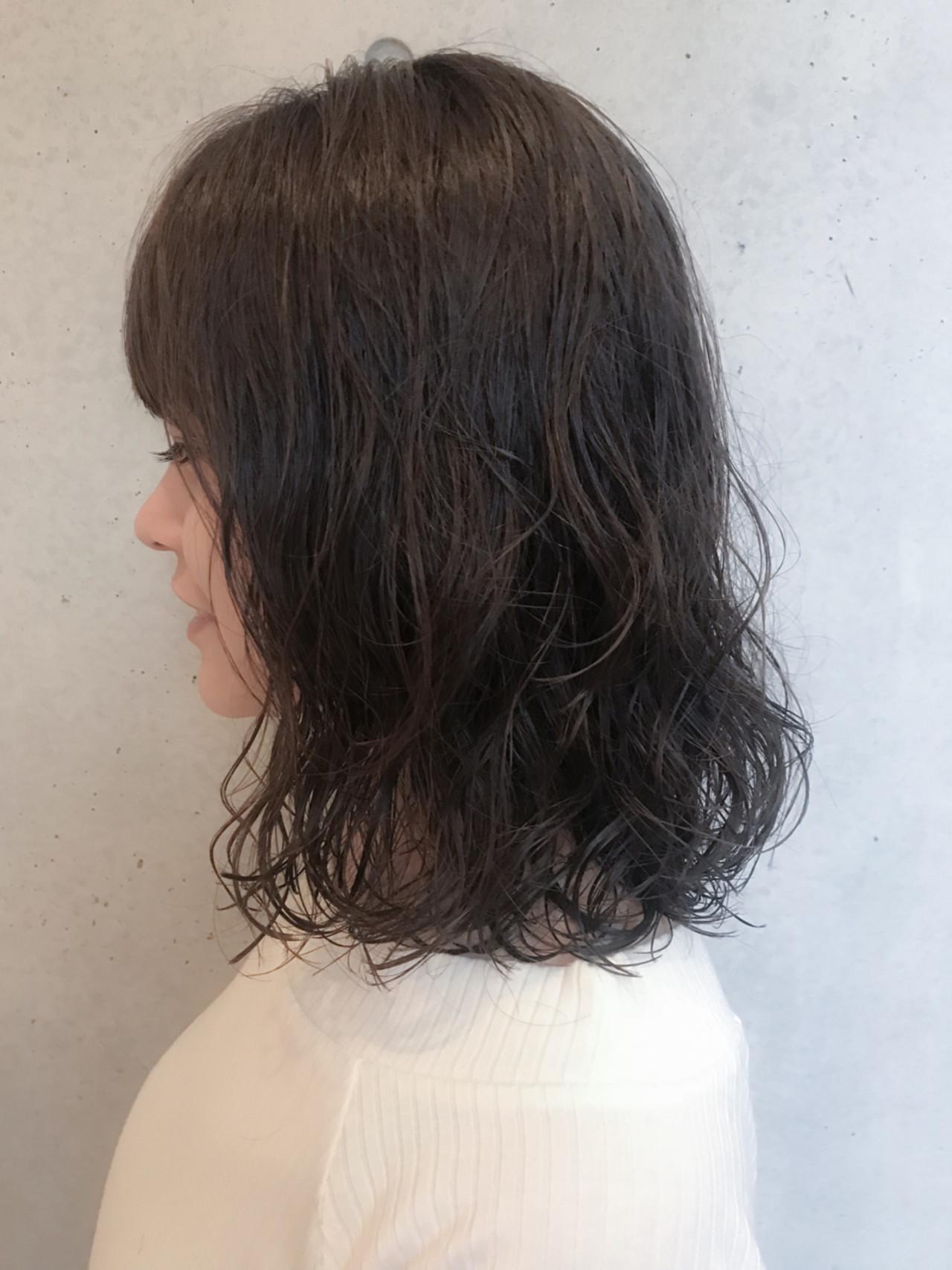 デジタルパーマ 大人かわいい パーマ ナチュラル ヘアスタイルや髪型の写真・画像