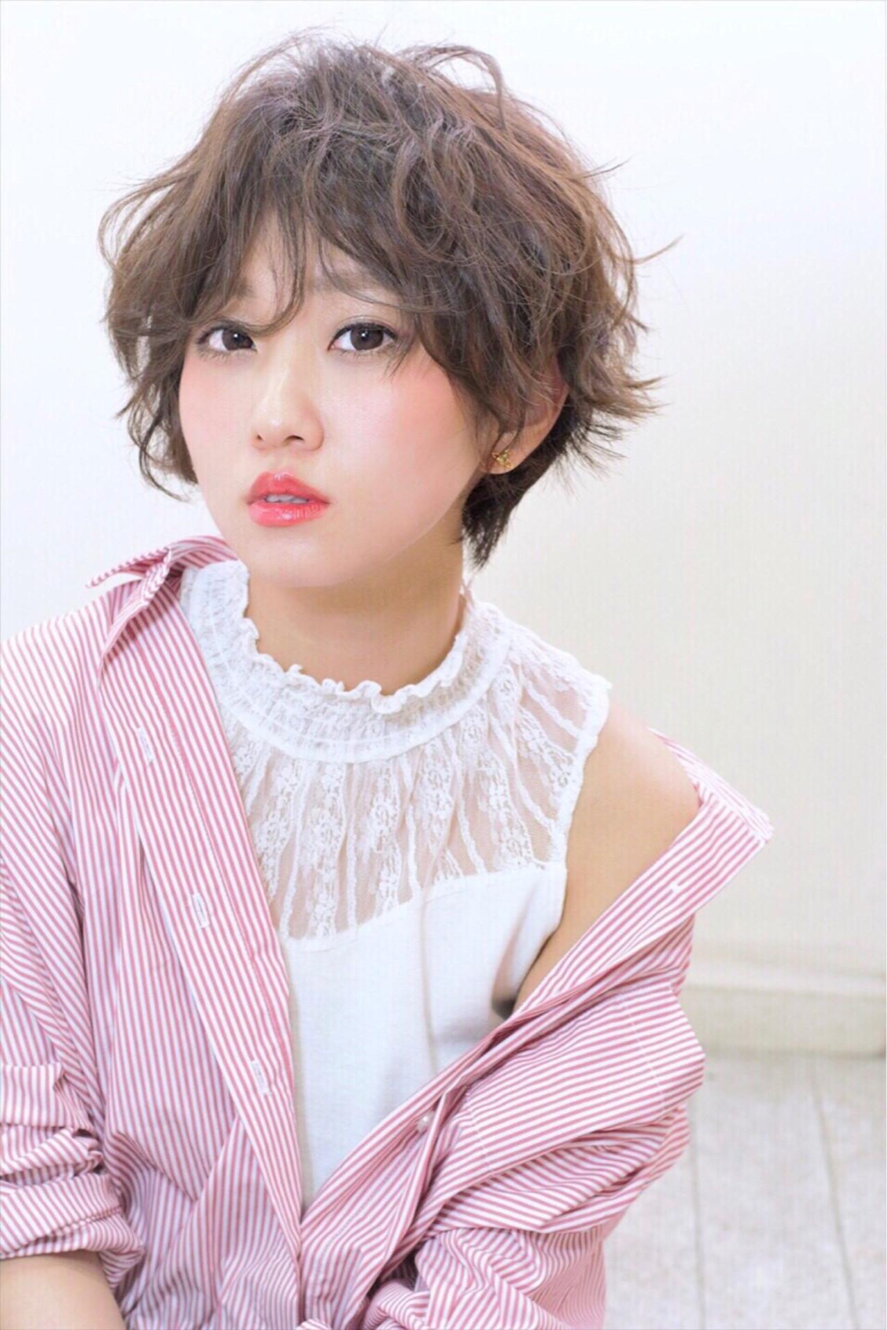 【丸顔】前髪を長めにして似合わせショートに Ayumi