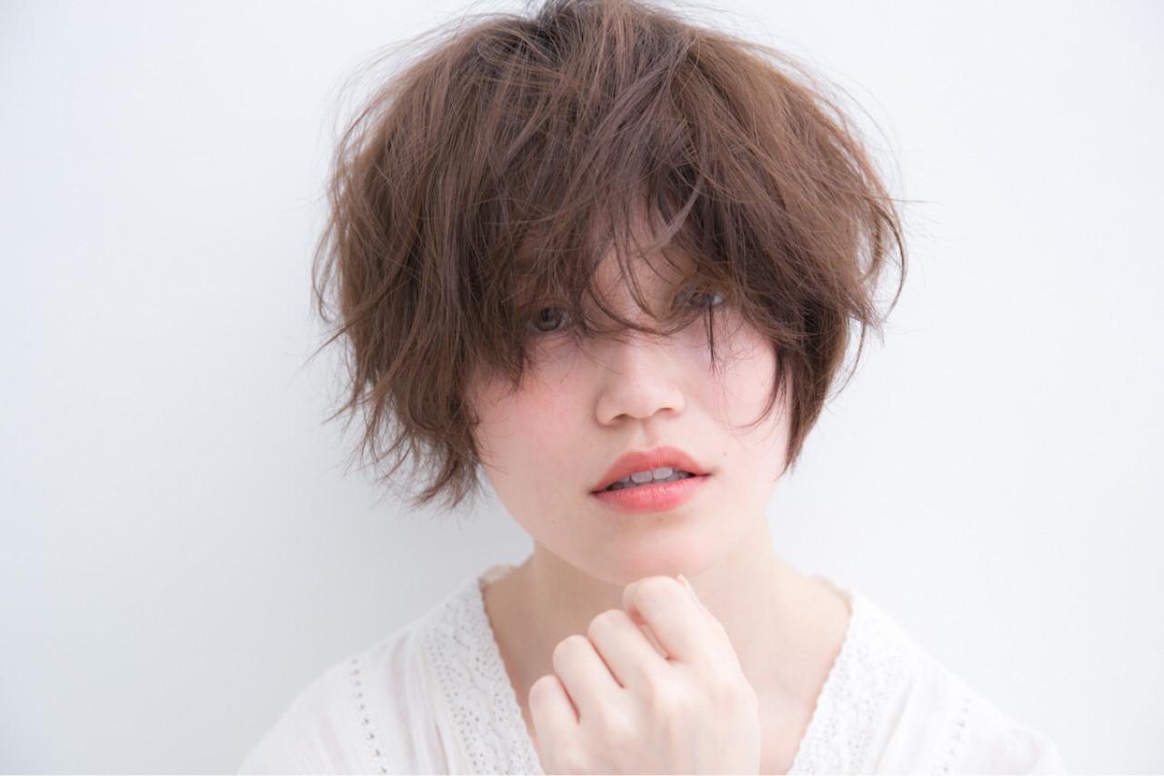 ナチュラル 無造作 デジタルパーマ ボブ ヘアスタイルや髪型の写真・画像