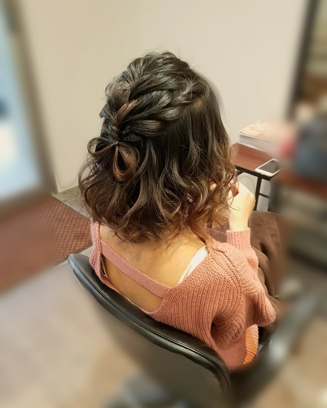 ヘアアレンジ ハーフアップ フェミニン ガーリー ヘアスタイルや髪型の写真・画像