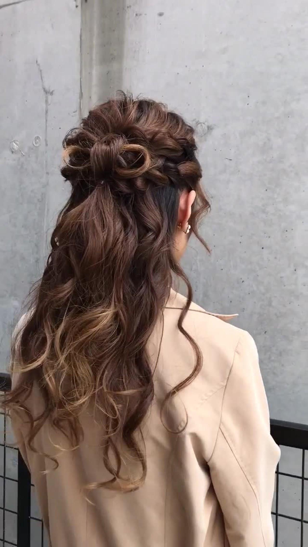 ヘアアレンジ パーティ 結婚式 ロング ヘアスタイルや髪型の写真・画像