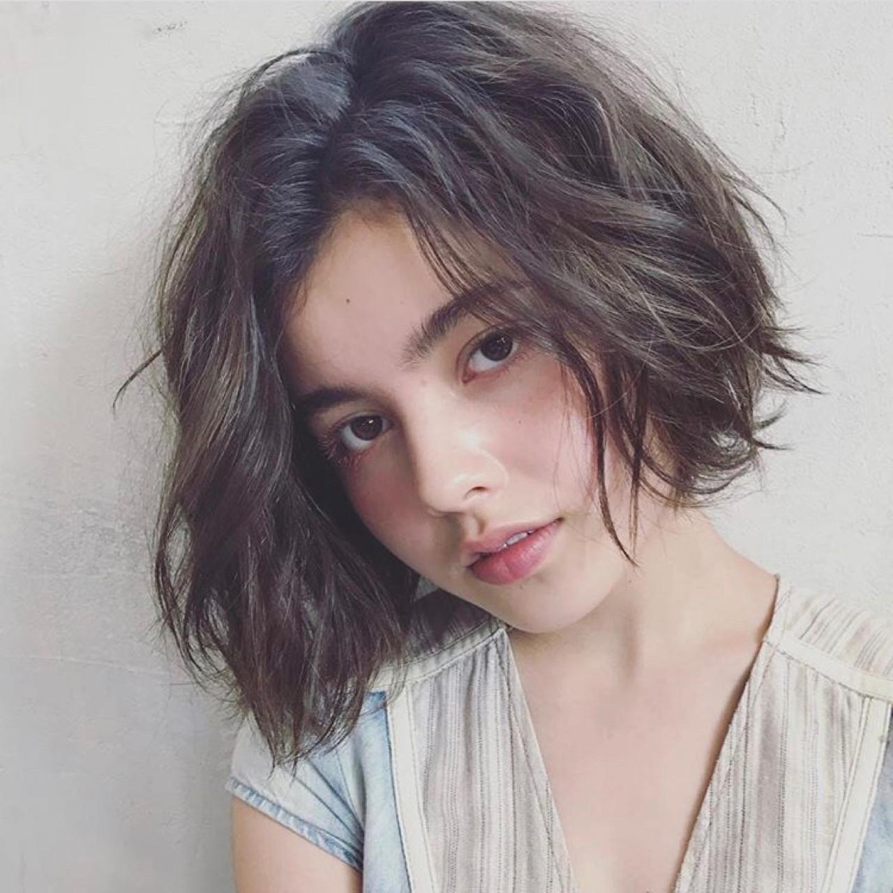 ボブ パーマ ストリート 外国人風 ヘアスタイルや髪型の写真・画像