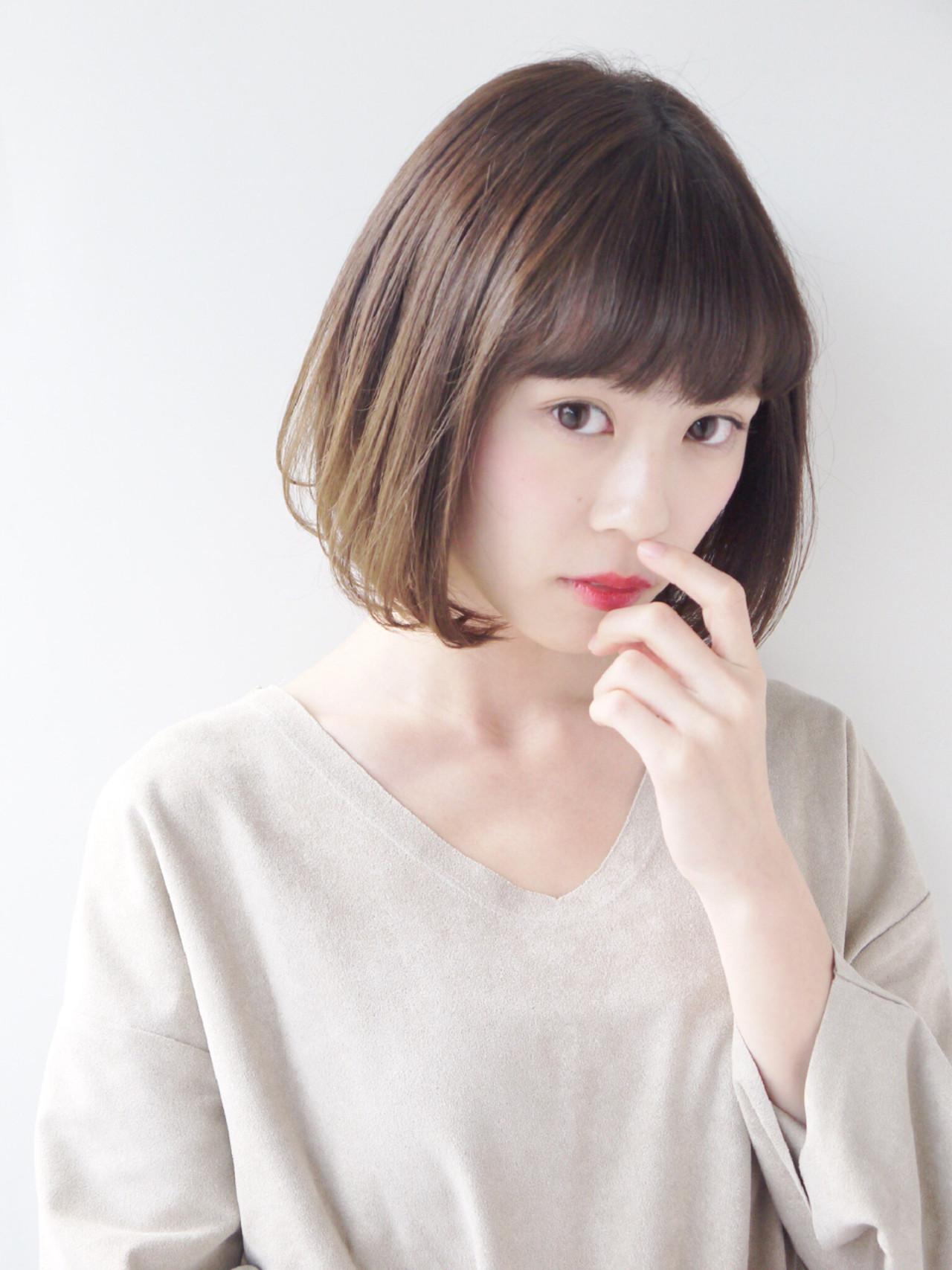 毛先ワンカールでキュートなヘアに Hiroki Sakuma