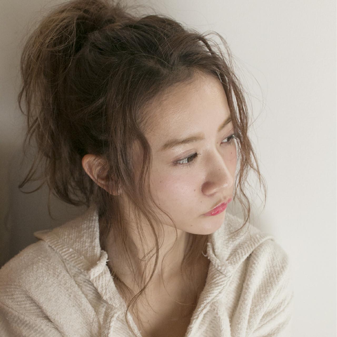 人気のポニーテールも前髪なしでゆるっとアンニュイ♡ 岩崎望