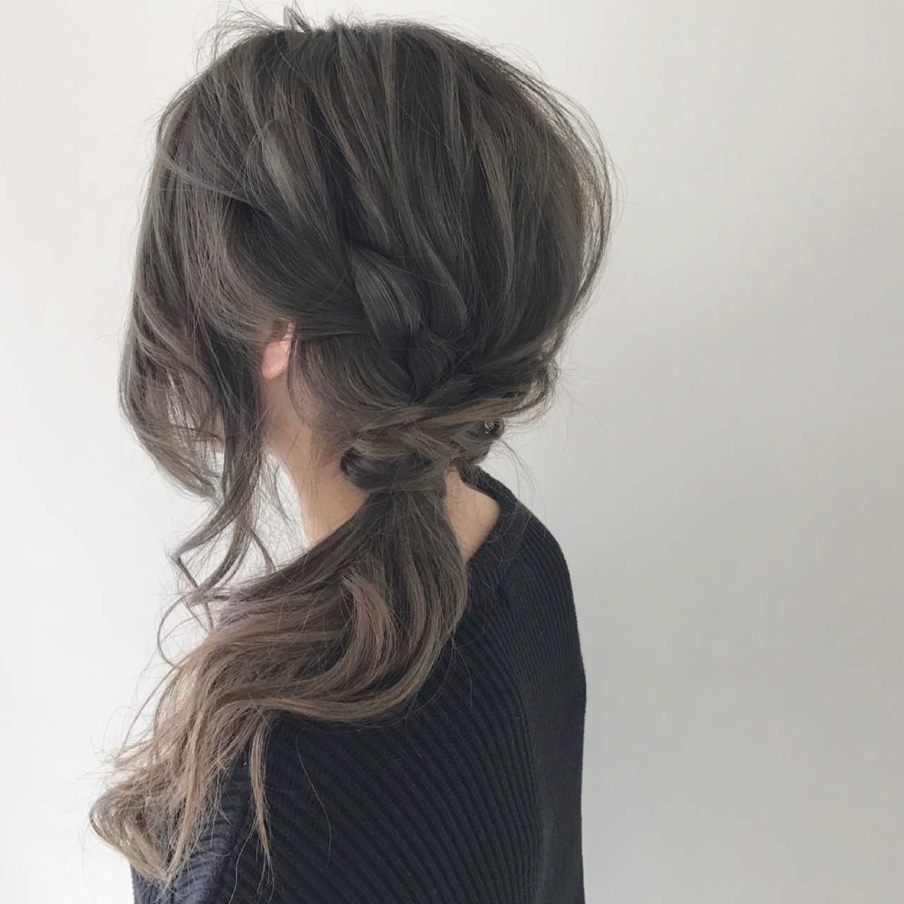 簡単ヘアアレンジ ヘアアレンジ ポニーテール ロング ヘアスタイルや髪型の写真・画像