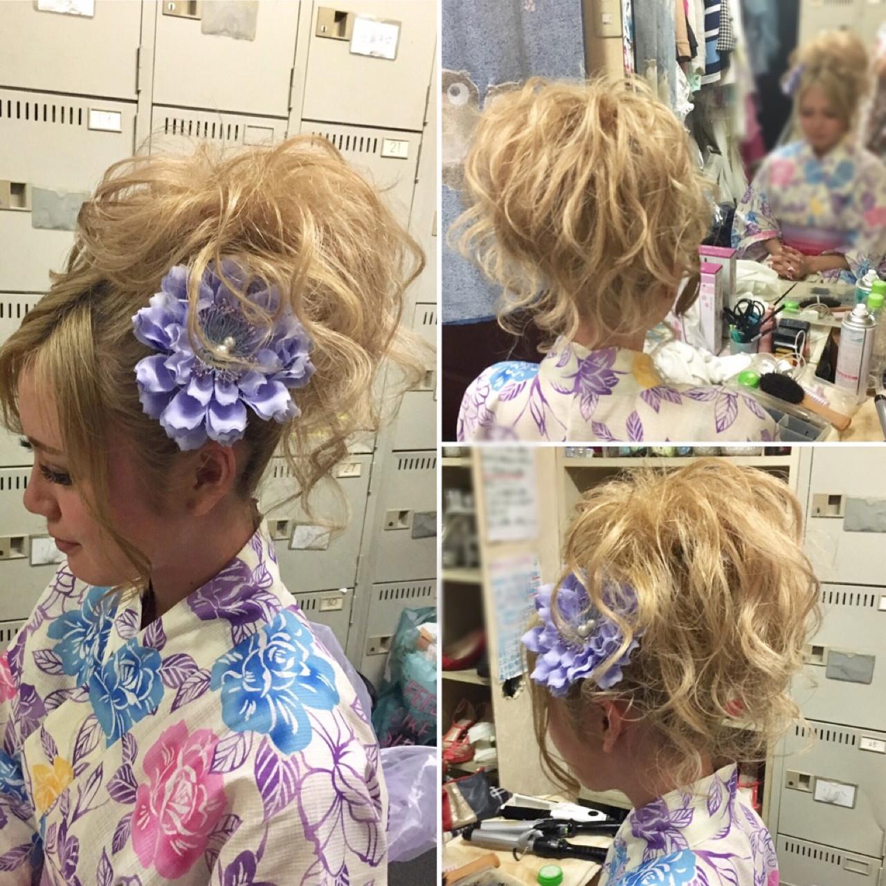 ナチュラル アップスタイル ロング 和装 ヘアスタイルや髪型の写真・画像