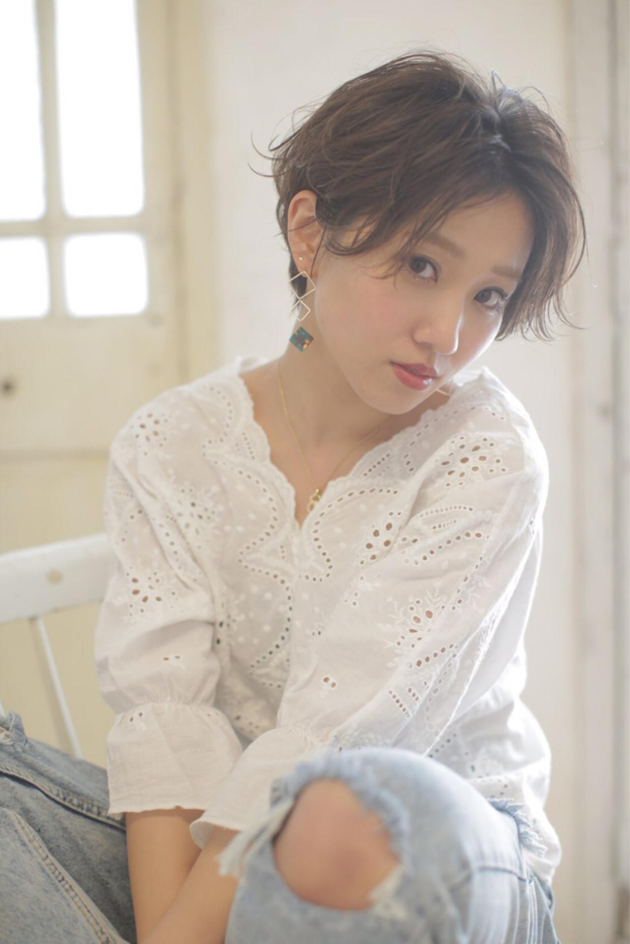 ウェットスタイルに仕上げる Ayumi