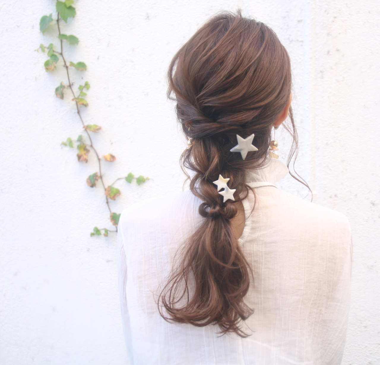 デート 結婚式 ロング ナチュラル ヘアスタイルや髪型の写真・画像