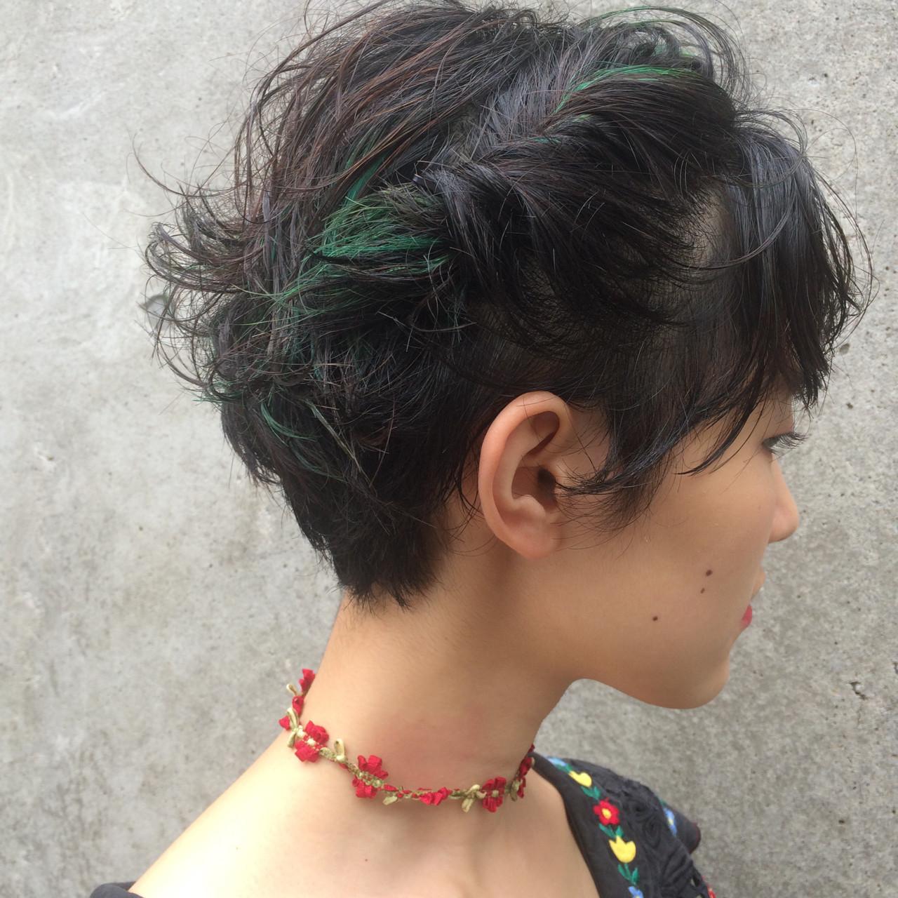 すっきり見せのショートサイドアップヘア 柳絵美子