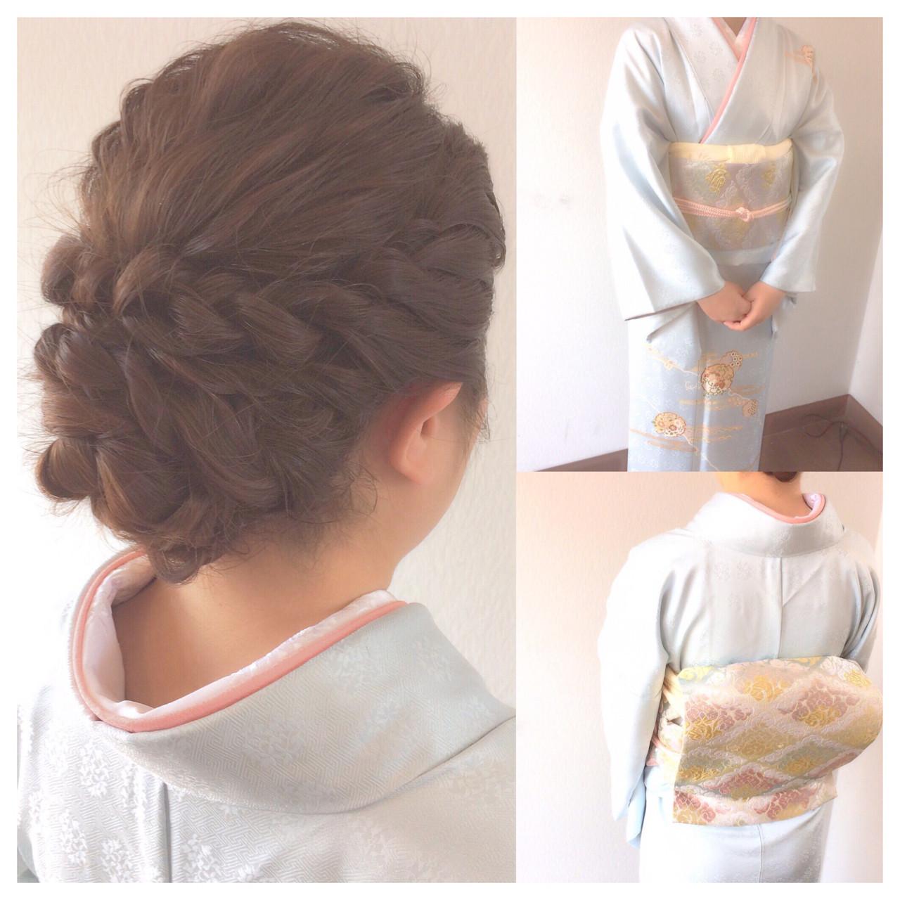 簡単ヘアアレンジ 和装 結婚式 ヘアアレンジ ヘアスタイルや髪型の写真・画像