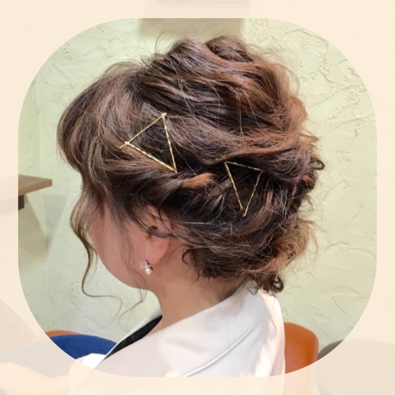 ラフ ボブ ヘアアレンジ 外国人風 ヘアスタイルや髪型の写真・画像